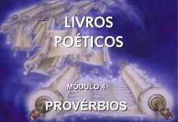 livros poéticos módulo 4 provérbios