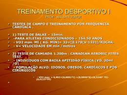 VO2 máx. ( em ml/kg/min) - Universidade Castelo Branco