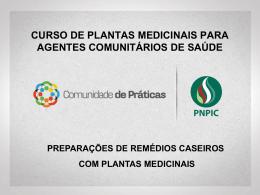 curso de plantas medicinais para agentes comunitários de saúde