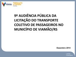 9º Audiência de Rede Transporte Viamão