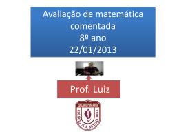 1 MB 26/11/2014 Prova comentada de matemática 8º ano
