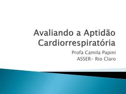 Avaliando a Aptidão Cardiorrespiratória - FTP