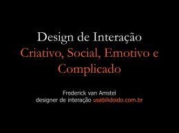 Design de Interação Criativo, Social, Emotivo e