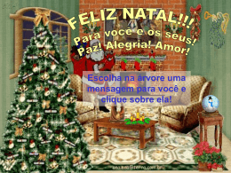 Mensagens de Feliz Natal em. PPT