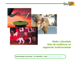Rádio Liberdade Fm Líder do segmento Tradicionalista