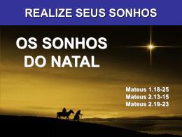 OS SONHOS DO NATAL