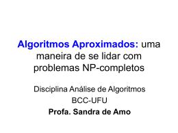 Algoritmos Aproximados