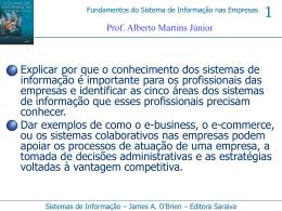 1 AULA - Prof. Alberto Martins Jr