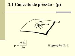 Unidade 2 - Estática dos Fluidos