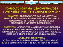 APLICAÇÕES NO BALANÇO PATRIMONIAL - Uni