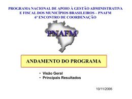 apresentação  - 684 KB - Unidade de Coordenação de Programas