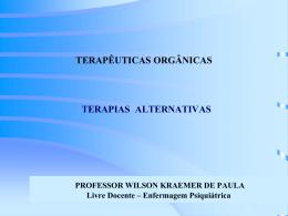 TERAPIAS ALTERNATIVAS - Wilson Kraemer de Paula