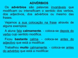 advérbios