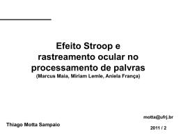 SAMPAIO, T.O.M. Efeito Stroop e rastreamento ocular no