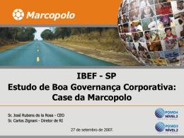 Estudo de Boa Governança Corporativa: Case da Marcopolo