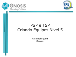 PSP e TSP - Personal and Team Software Process