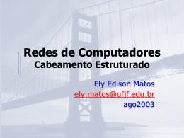 Cabeamento Estruturado - Faculdade Gama e Souza
