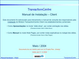 Manual de Instalação TRNCClient