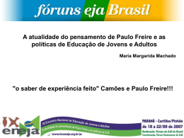 Slides - Portal dos Fóruns de EJA