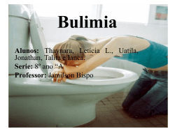 Bulimia - escola estadual dr martinho marques