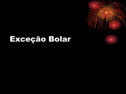 Exceção Bolar - Denis Borges Barbosa