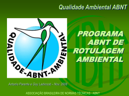 Qualidade Ambiental ABNT