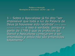 Revelações do Apocalipse - Prefácio e Introdução, Cap. 1