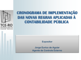 Apresentação Jorge Eurico - TCE-RO