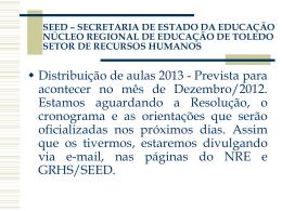 seed – secretaria de estado da educação núcleo
