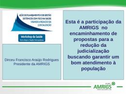 Apresentação AMRIGS - Ministério Público