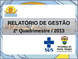 2º Quadrimestre / 2013