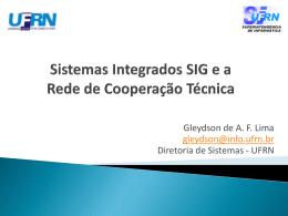 Sistemas integrados do SIG e a rede de cooperação - Unifal-MG
