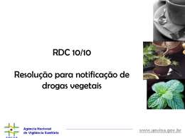Droga vegetal