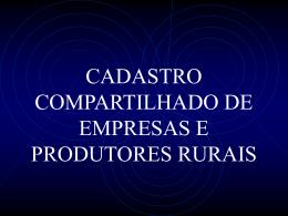 CADASTRO COMPARTILHADO