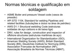 Normas técnicas e qualificação em soldagem