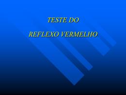 teste do reflexo vermelho