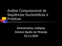 Curso de Extensão em Bioinformática – CCE/PUC-RJ