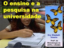 O ensino e a pesquisa na universidade