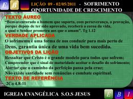 LIÇÃO 09 - 02/05/2011 - Igreja Evangélica SOS Jesus