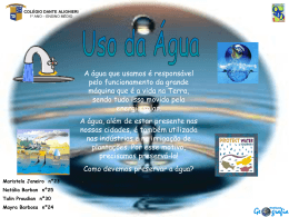 Uso da água - Colégio Dante Alighieri