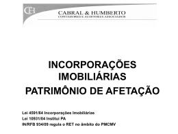 INCORPORAÇÕES IMOBILIÁRIAS PATRIMÔNIO