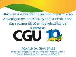 Ronald Balbe – Apresentação SFC Conaci