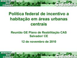 Reabilitação de Áreas Urbanas Centrais