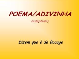 De que palavras se trata - Teia da Língua Portuguesa