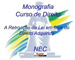 Apresentação - Monografia - Jorge Rêgo