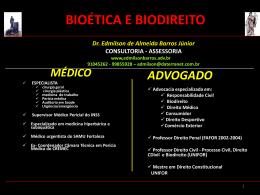 BIOÉTICA E BIODIREITO - barros consultoria e assessoria
