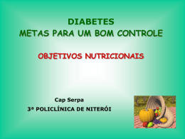 Diabetes-Cap Serpa - 3ª Policlínica do CBMERJ