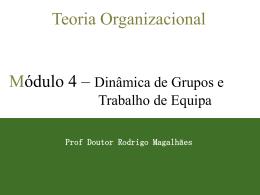 12 Fases da Formação dos Grupos