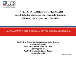 INTERATIVIDADE E COOPERAÇÃO: possibilidades para