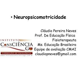 Psicomotricidade - Instituto Consciência GO